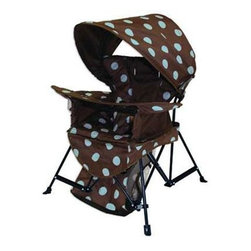 SwimWays Corp. - Go with Me Chair Brown Blue - Kelsyus Go with Me Chair - Portable lightweight indoor/outdoor chair that grows with child.
