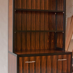 File cabinet with bookshelf, Rosewood veneers.