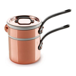 Mauviel - Mauviel M'150c Copper and Stainless Steel Baine Marie, 0.9qt. - Bilaminated copper stainless steel (90% copper and 10% 18/10 stainless steel)