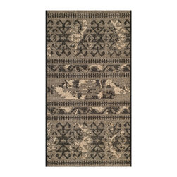 "Safavieh - Blaze Rug, Black / Beige 2' X 3'6"" - Construction Method: Power Loomed. Country of Origin: Turkey. Care Instructions: Vacuum Regularly To Prevent Dust And Crumbs From Settling Into The Roots Of The Fibers. Avoid Direct And Continuous Exposure To Sunlight. Use Rug Protectors Under The Legs Of Heavy Furniture To Avoid Flattening Piles. Do Not Pull Loose Ends; Clip Them With Scissors To Remove. Turn Carpet Occasionally To Equalize Wear. Remove Spills Immediately. Elegant Old World velvet motifs make a fashion statement for the floor in PALAZZO. A rich vintage look is achieved with a combination of lustrous and matte yarns in polypropylene and natural jute, and textural chenille for velvety pattern dimension."