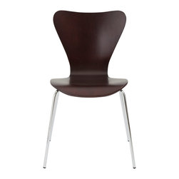 Euro Style - Euro Style Tendy Side Chair Set of 4 02846 - Modern? Retro? How about perfect. Some things just can't be improved, that's why this classic design is always in style. Wood. Steel. Stacking. Take a seat. Actually, take four.