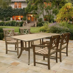 Renaissance Crossback Armchair & Rectangular Table Dining Set - Seats 4 - About Dropship Vendor GroupIn operation since 1995, Dropship Vendor Group has been filling the need for outdoor living products. Based in Ho Chi Minh City, Dropship Vendor Group has established a reputation for manufacturing fine outdoor living products at the right price, while offering excellent quality, style, and innovation to today's demanding retail environment. Companies around the world trust Dropship Vendor Group's capabilities and manufacturing expertise to improve their ability to market and sell high-quality products. Dropship Vendor Group is a leading manufacturer for some of the world's most prestigious retailers and distributors in the U.S., Canada, Europe, Australia, South America, and Middle East.