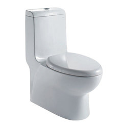 Atlas International - Ariel Royal CO1038 Dual Flush Toilet - Ariel cutting-edge designed one-piece toilets with powerful flushing system. It's a beautiful, modern toilet for your contemporary bathroom remodel.