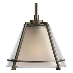 Progress Lighting - Progress Lighting P5177-108 1-Light Mini-Pendant with Clear Glass Shade - Progress Lighting P5177-108 1-Light Mini-Pendant with Clear Glass Shade