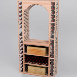 Designer Series Wine Rack - Rectangular Bin/ Wood Case Storage for below tableto - Add a functional working space and extra wine case storage to your wine cellar with a Designer Series Rectangular Bin/Wood Case Storage wine rack unit for use under tabletop 2. Product requires assembly.