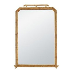 Mallorca Mirror by Hickory Chair Furniture - The Mallorca Mirror was inspired by a French 19th Century bamboo mirror. It is hand crafted from bamboo and features a clear mirror. A clear finish is applied allowing the beauty and natural color variation of the bamboo to be visible.