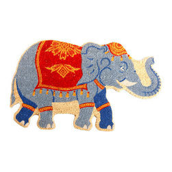 "CocoMatsNMore - CocoMatsNMore Indian Elephant Shape Vinyl Backed Coir Doormats- 22"" X 36"" - Eco-friendly Coco Mat are hand-woven and  made from 100% natural coir . These coco doormats are designed to last for a long time and are easy to maintain and clean by either shaking or hosing it down. Designed with fade-resistant dyes they are durable enough to withstand the harshness of weather and look good througout the year. Furthermore, they keep your house clean by doing a fabulous job of trapping the dirt, mud and debris right at the doorstep."