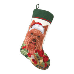 Yorkshire Terrier Needle Point Stocking
