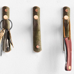 Beech Wood Tree Hooks - Use a row of these little twig hooks beside the door to hold keys and the dog's leash, or in the bedroom as a handy place to keep favorite necklaces close at hand.