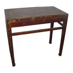 Oriental Furniture - Antique Chinese Table PX-135 - Each piece of furniture in our latest shipment of antiques has been handpicked to ensure the highest quality and style.  The clean lines and fine craftsmanship make this piece ideal for any home.