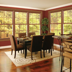 Excalibur® : Fusion-Welded Vinyl Windows - Exalibur® double hung windows bring light and comfort to the room and are oustandingly durable. Photo by Alside