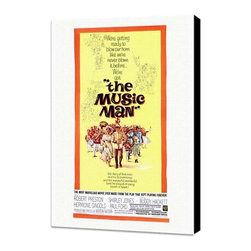 The Music Man 27 x 40 Movie Poster - Style A - Museum Wrapped Canvas - The Music Man 27 x 40 Movie Poster - Style A - Museum Wrapped Canvas. Amazing movie poster, comes ready to hang, stretched on canvas museum wrap canvas with color sides. Cast: Ron Howard