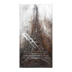 Benzara - Canvas Art Eiffel Tower - Canvas Art Eiffel Tower