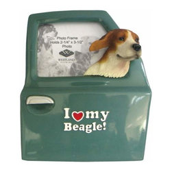 WL - I Love My Beagle Inscription Photo Frame with Dog Head Out Car Window - This gorgeous I Love My Beagle Inscription Photo Frame with Dog Head Out Car Window has the finest details and highest quality you will find anywhere! I Love My Beagle Inscription Photo Frame with Dog Head Out Car Window is truly remarkable.