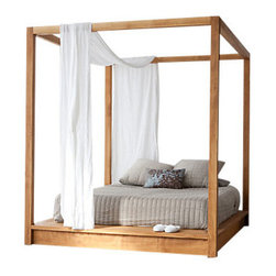 PCH Series Canopy Bed - The PCH Series Canopy Bed offers endless possibilities; anyone who has ever wanted a canopy bed knows exactly what we're talking about. There's a mystique that comes with sleeping under a canopy, a perception that the bed is your shelter from an outside world whose elements can't reach you there. Plus, if you really want to, you can play princess. However you use it, this queen size canopy bed with its solid Teak construction is sure to fuel your love for life.