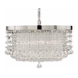 Uttermost - Uttermost Fascination 3 Light Crystal Chandelier - 21138 - Uttermost Fascination 3 Light Crystal Chandelier - 21138