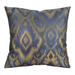 Howard Elliott - Opal Pacific 20 x 20 Pillows - Change up color themes or add pop to a simple sofa or bedding display by piling up the pillows in a multitude of colors, textures and patterns. This Opal Pillow features a bold pattern of blues, greens and gold's