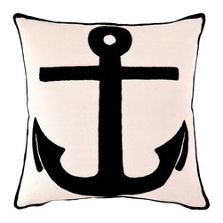 Fresh American Admiral Ivory/Black Indoor/Outdoor Pillow - A new introduction to the Pine Cone Hill collection is this indoor/outdoor Admiral pillow.
