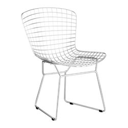 Wire Dining Chair by Zuo Modern - An icon of Mid-Century modern, the Wire dining chair