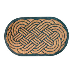 Entryways - Lovers Knot Recycled Rubber Bootscraper Doormat - Intricate in design, this mat is crafted with the perfect combination of coconut fiber and recycled rubber. The result is a bootscraper designed to stand the test of time. It's tough enough to scrape boots on, yet unmistakably elegant to impress all your visitors.
