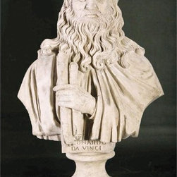 Design Toscano - Design Toscano 30.5 in. Leonardo da Vinci Sculptural Bust - NE867143 - Shop for Sculptures Statues and Figurines from Hayneedle.com! The Design Toscano 30.5 in. Leonardo da Vinci Sculptural Bust is a stunning grand-scale antique replica bust that captures the commanding presence and sculptural detail of this Renaissance-era Master artist. An investment in classic European sculpture this impressive life-size sculptural bust is cast in quality resin with a faux stone finish to make a sophisticated statement piece for your garden or home. About Design ToscanoDesign Toscano is the country's premier source for statues and other historical and antique replicas which are available through the company's catalog and website. Design Toscano's founders Michael and Marilyn Stopka created Design Toscano in 1990. While on a trip to Paris the Stopkas first saw the marvelous carvings of gargoyles and water spouts at the Notre Dame Cathedral. Inspired by the beauty and mystery of these pieces they decided to introduce the world of medieval gargoyles to America in 1993. On a later trip to Albi France the Stopkas had the pleasure of being exposed to the world of Jacquard tapestries that they added quickly to the growing catalog. Since then the company's product line has grown to include Egyptian Medieval and other period pieces that are now among the current favorites of Design Toscano customers along with an extensive collection of garden fountains statuary authentic canvas replicas of oil painting masterpieces and other antique art reproductions. At Design Toscano attention to detail is important. Travel directly to the source for all historical replicas ensures brilliant design.