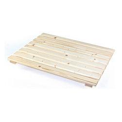 Gedy - Rectangle Natural Wood Shower Platform - Square wood shower platform.