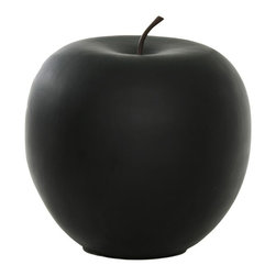 Moes Home Collection - Apple in Black - Glossy Fiberstone. Black Color. 31.6 in. L x 31.6 in. W x 31.8 in. H (44.1 lbs)