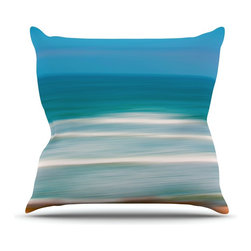 """Kess InHouse - Ann Barnes """"Sun and Sea"""" Blue Aqua Throw Pillow (18"""" x 18"""") - Rest among the art you love. Transform your hang out room into a hip gallery, that's also comfortable. With this pillow you can create an environment that reflects your unique style. It's amazing what a throw pillow can do to complete a room. (Kess InHouse is not responsible for pillow fighting that may occur as the result of creative stimulation)."""