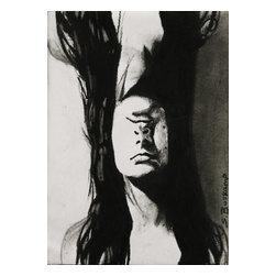 Duplicated, Original, Drawing - Self portrait duplicated