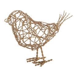 Lazy Susan - Brass Scribble Large Bird - Brass Scribble Large Bird