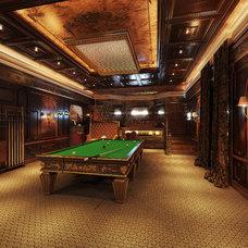 Traditional Basement by Design Studio Y&S architecture-interior design