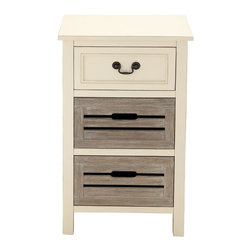Classy Stylish Wood Night Stand - Description: