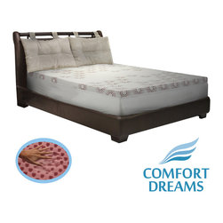 Comfort Dreams - Comfort Dreams Lifestyle Collection Performance 3-inch Memory Foam Topper with C - Reduce the pressure on your body while sleeping with this memory foam topper from Comfort Dreams. Featuring a washable cover, this three-inch topper increases your comfort, extends the life of your mattress, and never requires turning.