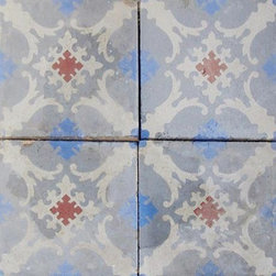 Cement Tiles - Antique cement tile with a lovely patina and classic pattern. Wouldn't this look great in an entryway or a bathroom floor?