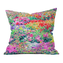 DENY Designs - Jacqueline Maldonado Secret Garden 1 Throw Pillow - Wanna transform a serious room into a fun, inviting space? Looking to complete a room full of solids with a unique print? Need to add a pop of color to your dull, lackluster space? Accomplish all of the above with one simple, yet powerful home accessory we like to call the DENY throw pillow collection! Custom printed in the USA for every order.