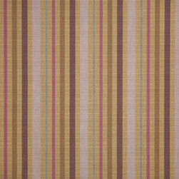 "Sunbrella USA - 56097 Sunbrella Solano Dusk - Sunbrella indoor/outdoor high performance fabric.  5 year warranty against fade, mildew and water resistance. 100% Solution-dyed Acrylic Yarns.  54"" wide. Stripe. Manufactured in the United States.  Machine wash - cold water. NO DRYER/HEAT."
