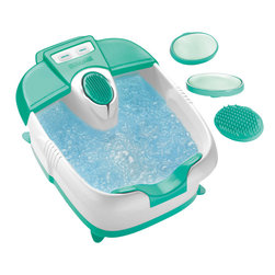 Conair - Conair True Massaging Foot Bath with Bubbles and Heat - Add a little heat to the place that needs it the most — your feet. This foot bath is the perfect way to unwind after a long day of running around. Relaxing bubbles and massaging vibration provide the right amount of relief. But why stop there? Give yourself the full pedicure treatment with the included attachments: single, double and pinpoint nodes.