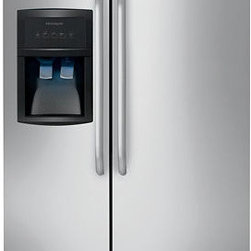 Frigidaire 22.6 cu ft Side-by-Side Refrigerator (Stainless Steel) ENERGY - ENERGY STAR® qualified refrigerator uses less energy and saves you money