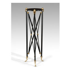 "Wildwood Lamps 40"" Brass Plant Stand with Black Marble - Wildwood Lamps' Brass Plant Stand 40"" with Black Marble has a Solid Brass finish. Dimensions: 40"" High."