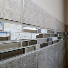 Modern Tile by Crabbe Construction