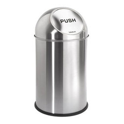 Blomus - INTRO Pushman Trash Can by Blomus - Keep your garbage tidy with this can. It also keeps the pets and kids from getting into the trash.