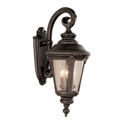 Trans Globe Lighting - Bel Air Saddle Rock Outdoor Wall Light - 25H in. - 5044 RT - Shop for Wall Mounted from Hayneedle.com! Functional doesn't have to be boring! The Bel Air Saddle Rock Outdoor Wall Light - 25H in. proves the point by giving you a stylish fixture that also provides plenty of safe useful outdoor light for doorways and patios. Constructed from durable cast aluminum this hanging wall-mounted fixture comes in your choice of outdoor-friendly finishes and measures 9.5L x 25H inches with a 16-inch extension from the wall. Requires three 60-watt candelabra base bulbs (not included).About Bel Air Lighting Inc.Born from the hopes and dreams of the Haber and Ziv families in 1986 Bel Air Lighting offers one of the most comprehensive and stylish collections of residential lighting in the world. This family-owned company based in North Hollywood Calif. is marked by personal involvement with a wide variety of products available at the lowest prices. From traditional to ultra-contemporary in style Bel Air has just the right light for you.