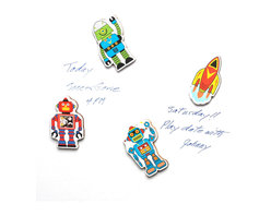 """The Original Toy Company - The Original Toy Company Kids Children Play Space Magnets - These 4 INDIVIDUAL Space Magnets are packed on a full color retail hanging card. They make great party favors, stocking stuffers, or just a great addition for a children's note or good class report card on your Kitchen refrigerator. Size: 2.5""""Hx 2""""W. Age 3 years plus. Weight: 1 lbs."""