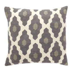 Hand-Blocked Silk Casablanca Pillow Cover - West Elm has so many options for throw pillows. I love the geometric print on this one. A pair of these on a charcoal or cream duvet or quilt would look great.