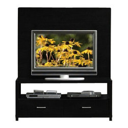 """ACMACM08280 - Lowell Collection Espresso Finish Wood TV Stand Entertainment Center - Lowell collection espresso finish wood TV stand entertainment center with large back panel. Measures 47"""" x 22"""" x 55""""H. Some assembly required."""