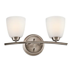 "Kichler - Kichler 45359BPT Granby 17.05"" Wide 2-Bulb Bathroom Lighting Fixture - Product Features:"