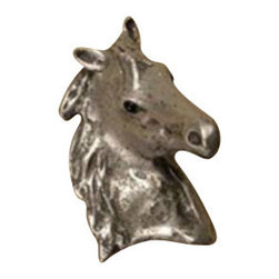 Anne at Home Hardware - Beauty Horse Knob, Antique Bronze - Made in the USA - Anne at Home customized cabinet hardware enables even the most discriminating homeowner to achieve the look of their dreams.  Because Anne at Home cabinet hardware is designed to meet your preferences, it may take up to 3-4 weeks to arrive at your door. But don't let that stop you - having customized Anne at Home cabinet knobs and pulls are well worth the wait!   - Available in many finishes.
