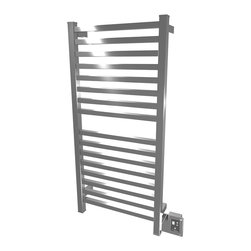 Amba - Edged 20x42 Electric Heated Towel Warmer, Polished - Dual-purpose radiator functions as towel warmer and space heater