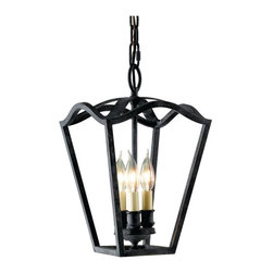 Murray Feiss - Murray Feiss King�s Table 1 Tier Chandelier in Antique Forged Iron - Shown in picture: King�s Table 3-Light Hallway Duo-mount Chandelier in Antique Forged Iron finish