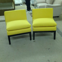 Finished Works - Armless chairs, starting at $500 a piece can be completely customized